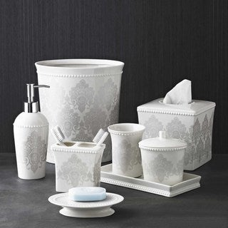 Damask Bath Accessory Collection