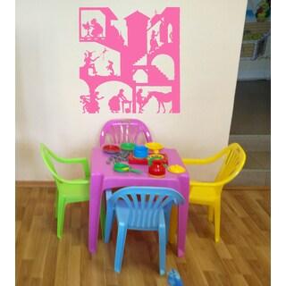 Fairy tale princess Wall Art Sticker Decal Pink