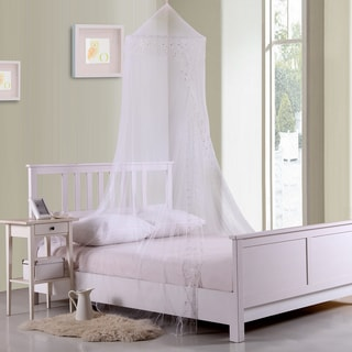 Sheer Galaxy Collapsible Hoop Kids Bed Canopy (Option: White)