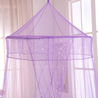 Sheer Galaxy Collapsible Hoop Kids Bed Canopy (Option: Purple)