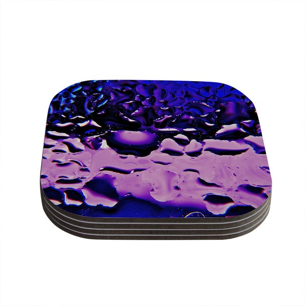 Kess InHouse Maynard Logan 'Window Purple' Coasters (Set of 4)