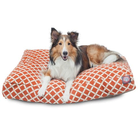 Bamboo Outdoor Indoor Rectangle Dog Bed by Majestic Pet