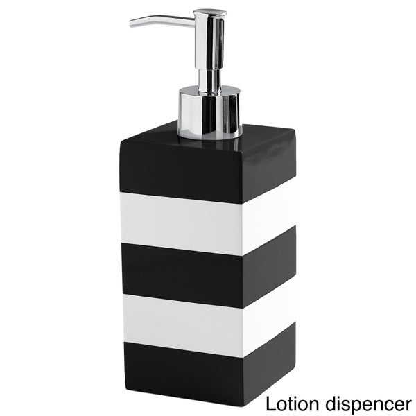 Coastal Stripe Black White Bathroom Accessories Free Shipping On Orders Over 45 Overstock Com 18712206