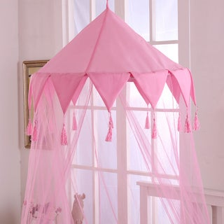 Sheer Harlequin Collapsible Hoop Kids Bed Canopy