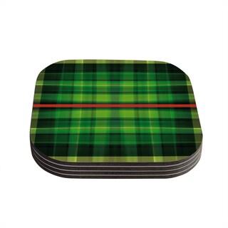 Kess InHouse Matthias Hennig 'Tartan' Coasters (Set of 4)