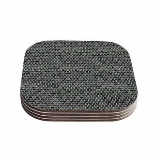 Kess InHouse Petit Griffin 'Marble' Gray Abstract Coasters (Set of 4)