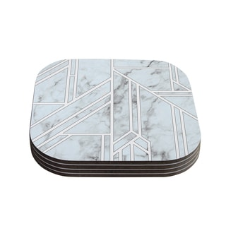 Kess InHouse KESS Original 'Marble Mosaic' Geometric Digital Coasters (Set of 4)