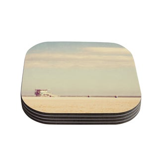 Kess InHouse Myan Soffia 'Toffee - Marshmallow' Sandy Beach Coasters (Set of 4)