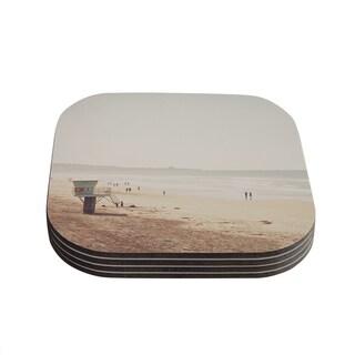 Kess InHouse Myan Soffia 'Beach Day' Beach Ocean Coasters (Set of 4)