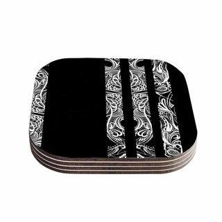 Kess InHouse Maria Bazarova 'Lines' Vector Art Deco Coasters (Set of 4)