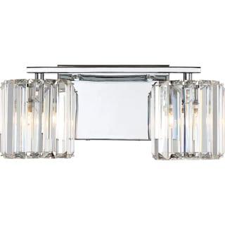 Quoizel Platinum Collection Divine Chrome and Glass 2-light Bath Fixture