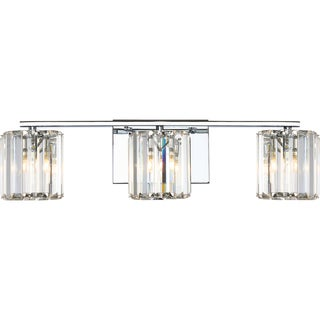 Quoizel Platinum Collection Divine Crystal Glass Bath Fixture with 3 Lights