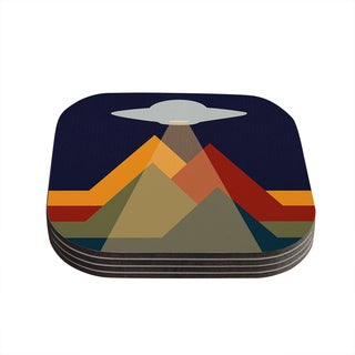 Kess InHouse KESS Original 'Abduct Me' Geometric Fantasy Coasters (Set of 4)