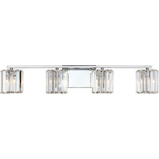 Quoizel Platinum Collection Clear Glass and Steel Divine Bath 4-light Fixture