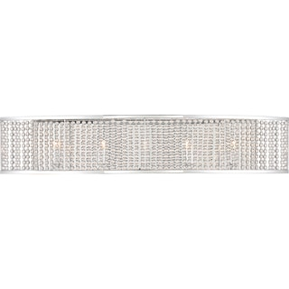 Quoizel Platinum Collection Silver Steel 14-inch 5-light Lacombe Bath Fixture