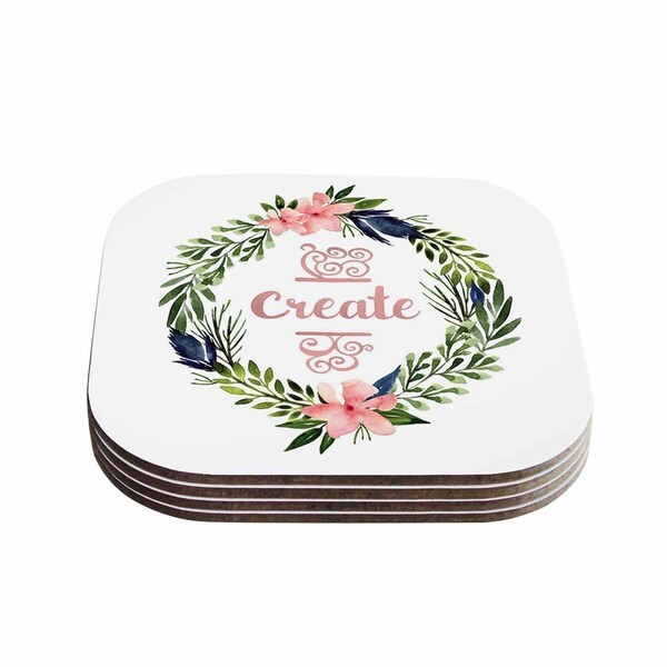 Shop Kess InHouse KESS Original Create Typography Watercolor - Create coasters from photos