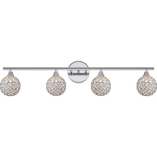 Quoizel Platinum Collection Shimmer Polished-chrome Steel 4-light Bath Fixture