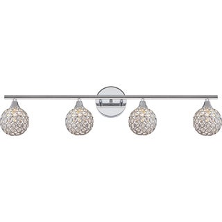 Quoize Platinum Collection Shimmer Polished-chrome Steel 4-light Bath Fixture