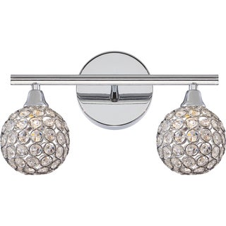 Quoize Platinum Collection Shimmer Bath Fixture With 2 Lights