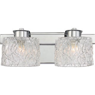 Quoizel Platinum Collection Seaview Clear Glass Bath Fixture with 2 Lights