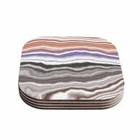 Kess InHouse KESS Original 'Iris Lake Bed' Geological Abstract Coasters (Set of 4)