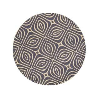 EORC Hand-Tufted Wool Blue Marla Rug (6' Round)