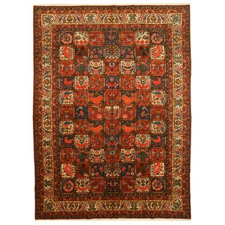 EORC Hand-knotted Wool Multi Bakhtiar Rug (10' x 13'10)