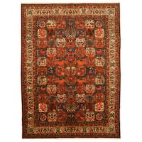 Hand-knotted Wool Traditional Oriental Bakhtiar Rug (10' x 13'10)