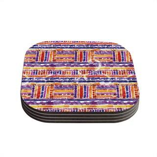 Kess InHouse Louise Machado 'Tribal' Coasters (Set of 4)