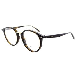 Celine CL 41406 086 Dark Havana Plastic 50mm Round Eyeglasses
