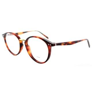 Celine Havana-style Round Plastic 50-millimeter Eyeglasses