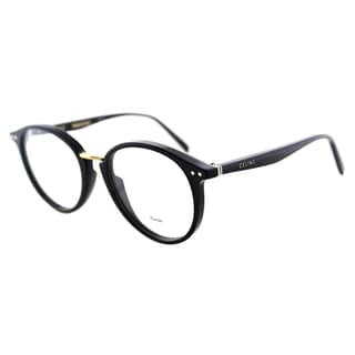Celine CL 41406 807 Black Plastic Round 50mm Eyeglasses