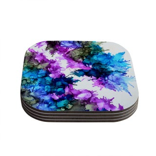 Kess InHouse Claire Day 'Utopia' Multicolor Wood Coasters (Pack of 4)
