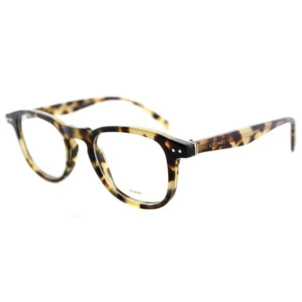 6b81e6449b7 Shop Celine CL 41404 3Y7 Honey Havana Plastic 47mm Square Eyeglasses ...