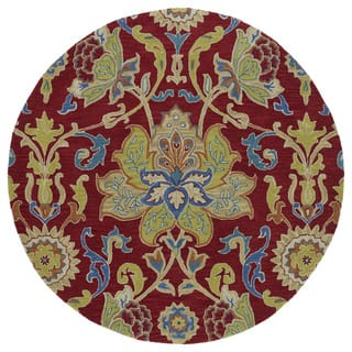Anabelle Red Floral Hand-Tufted Wool Rug (11'9 x 11'9 Round)|https://ak1.ostkcdn.com/images/products/11804673/P18713020.jpg?impolicy=medium