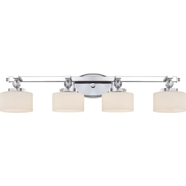 Quoizel Downtown Polished Chrome Steel 4 Light Bath Fixture Free Shipping Today Overstock