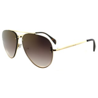 Celine CL 41392 Small Mirror J5G_QH Gold Metal Aviator Brown Mirror Gradient Lens Sunglasses