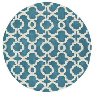Cosmopolitan Trellis Teal/Ivory Hand-Tufted Wool Rug (11'9 Round)|https://ak1.ostkcdn.com/images/products/11804747/P18713040.jpg?impolicy=medium
