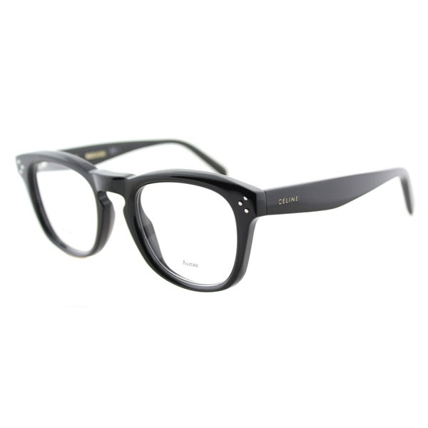 5c81e2928239 Shop Celine CL 41382 807 Black Plastic 48mm Square Eyeglasses - Free ...