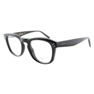 Celine CL 41382 807 Black Plastic 48mm Square Eyeglasses
