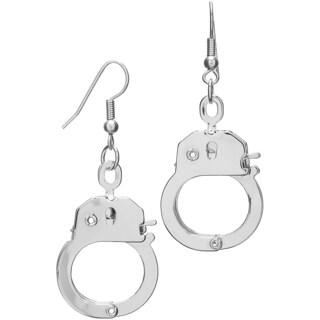 Silver Dangle Handcuff Earrings
