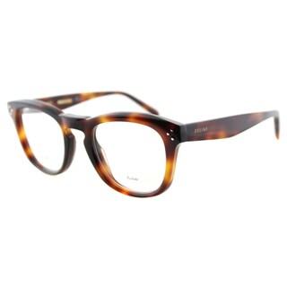 Celine Women's CL 41382 05L Havana Plastic Square 48-millimeter Eyeglasses