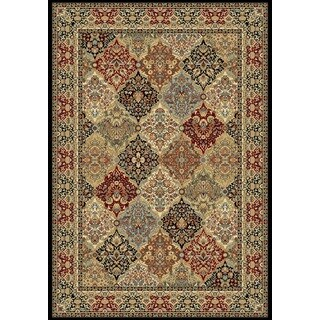 Machine-Made Tabriz Panel Grey/Multi-Colored Rug (5'3 x 7'7)
