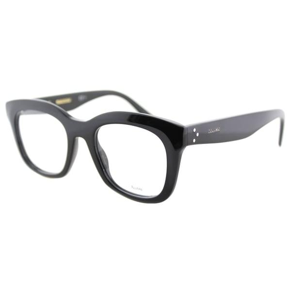 38d8286fe90d Celine CL 41378 807 Black Plastic 48-millimeter Square Eyeglasses