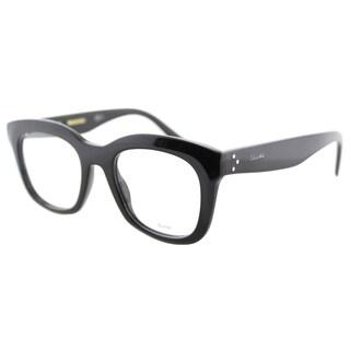 Celine CL 41378 807 Black Plastic 48-millimeter Square Eyeglasses