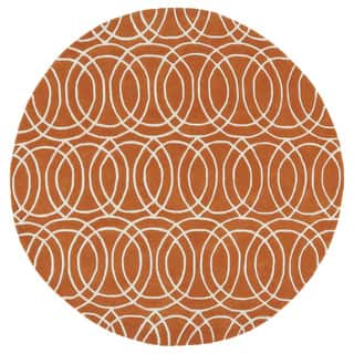 Cosmopolitan Circles Orange/Ivory Hand-Tufted Wool Rug (11'9 Round)|https://ak1.ostkcdn.com/images/products/11804958/P18713478.jpg?impolicy=medium