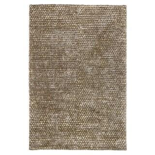 Kosas Home Handwoven Patricia Wool Shag Brown Rug (2'x3')