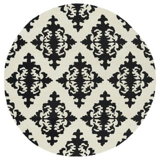 Runway Black/Ivory Damask Hand-Tufted Wool Rug (11'9 Round)|https://ak1.ostkcdn.com/images/products/11805027/P18713508.jpg?impolicy=medium