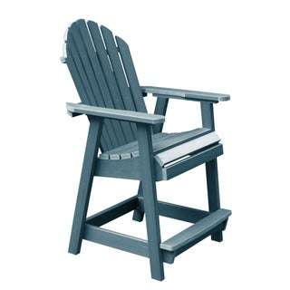 Highwood Eco-friendly Hamilton Counter-Height Deck Chair (Option: Nantucket Blue)