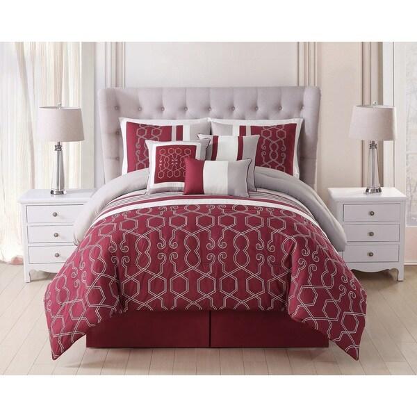 Easton Embroidered 7-piece Comforter Set